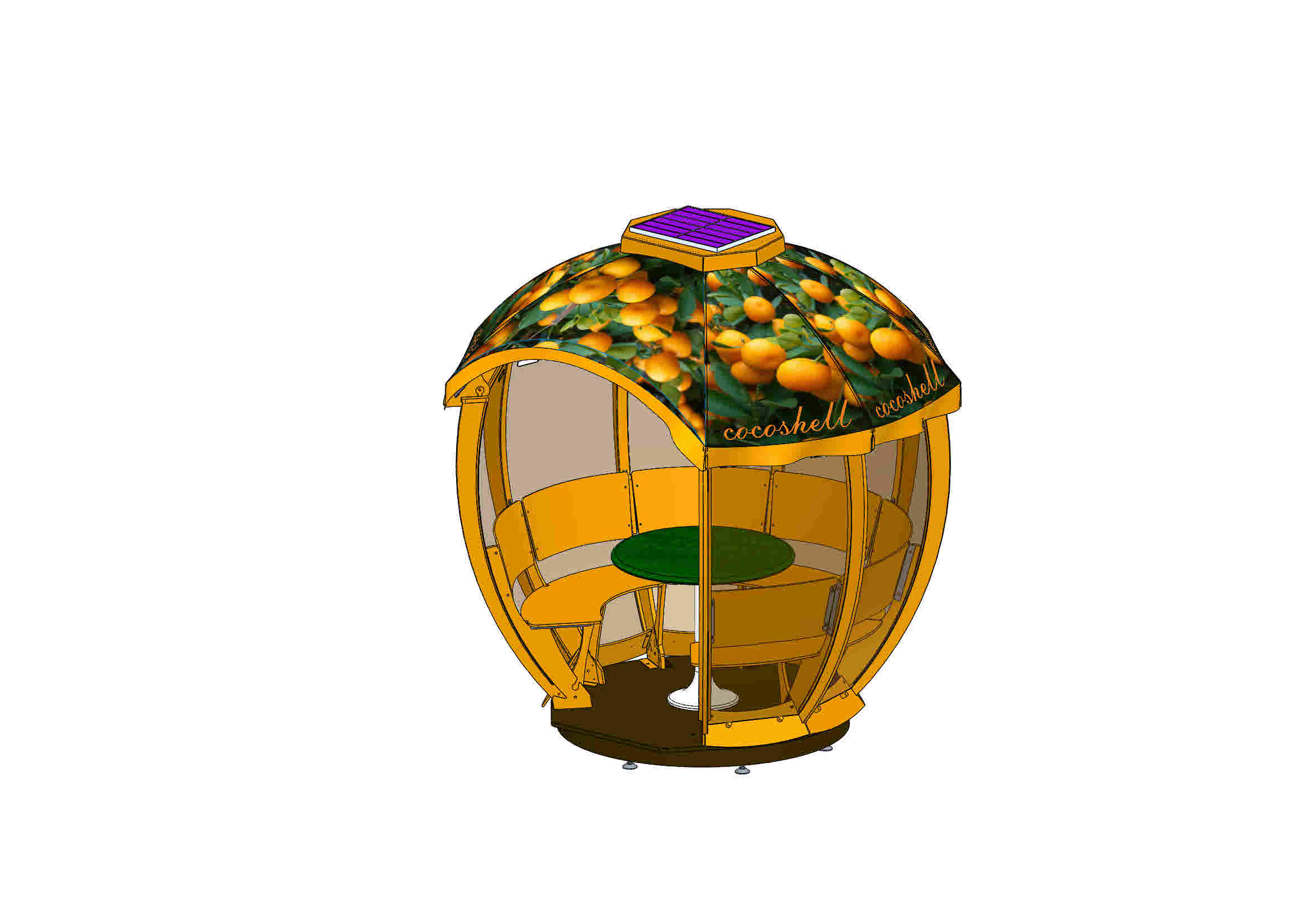 Cocoshell orange